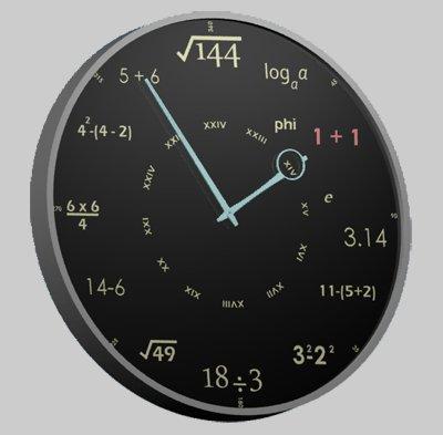 orologio da parete matematico