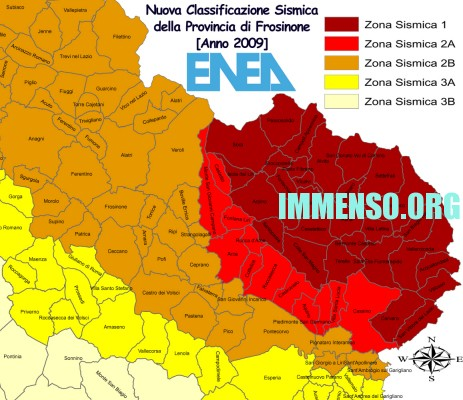 classificazione sismica frosinone