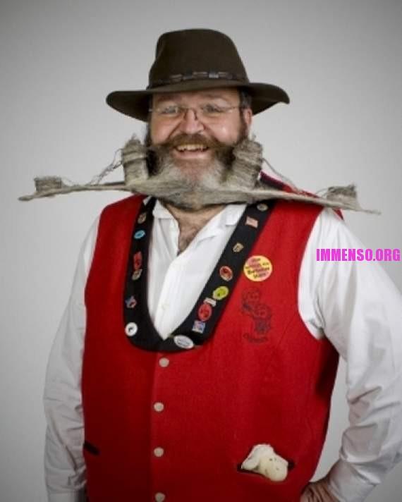 Ben noto Foto: strani barbe e baffi 10 >> Strani baffi e barbe: la gara di  AH79