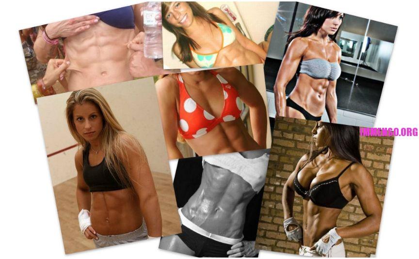 donne muscoli addominali allenati