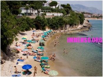 la spiaggia di Fontania