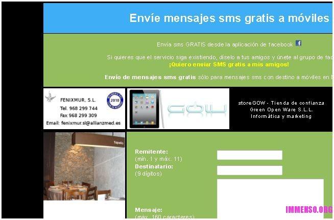 sms gratis spagna