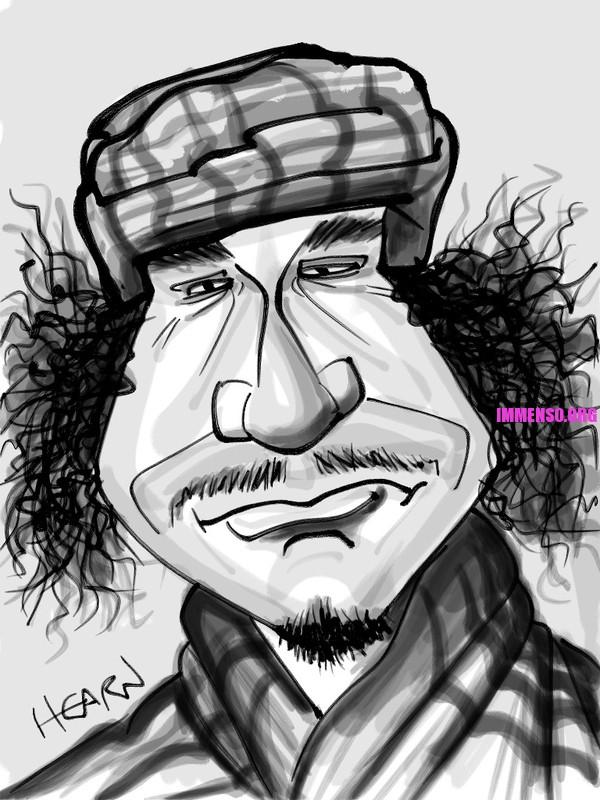 caricatura gheddafi  05