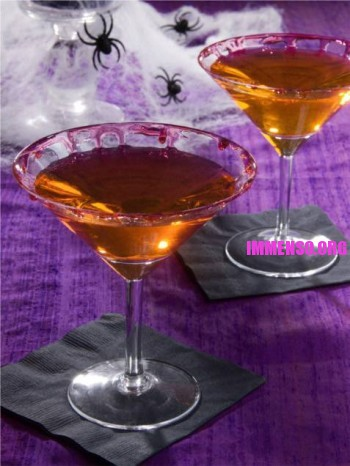 cocktail halloween martini rosso sangue