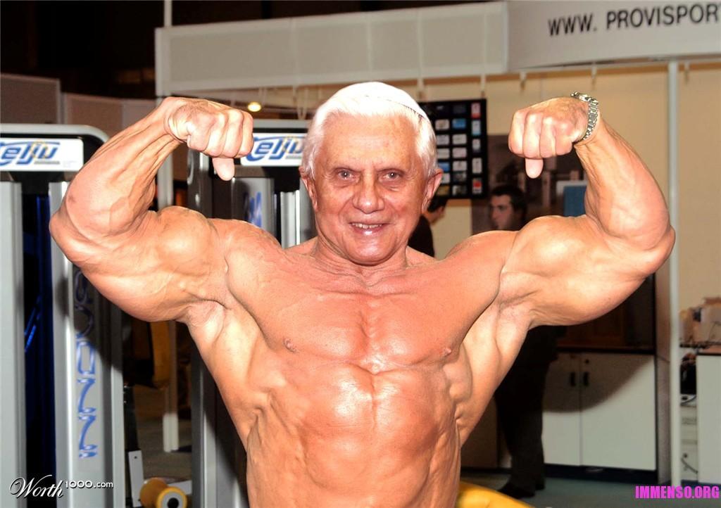 papa benedetto xvi muscoli