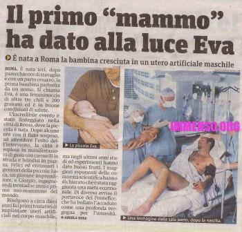 notizia gravidanza uomo facebook bufala