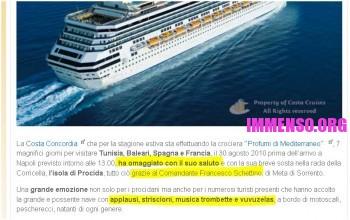 pagina cancellata su manovre del comandante Francesco Schettino