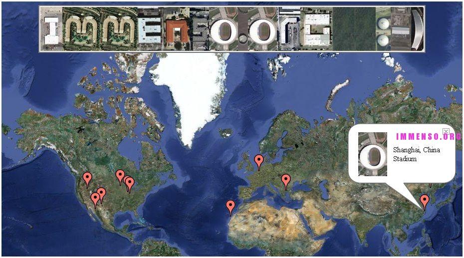 scritta fatta con google maps