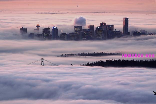 citta nella nebbia foto bellissime 03