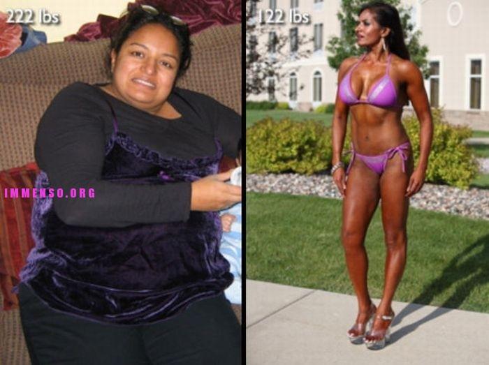 donne prima e dopo la dieta foto 27