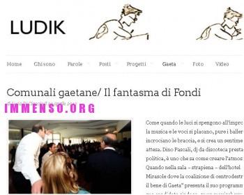 cosimino mitrano Fondi: l'articolo di Ludik