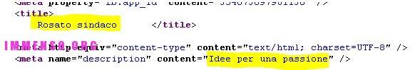 sito web pina rosato errori codice html seo