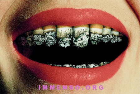 foto shock anti fumo smoking teeth
