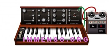 doodle sintetizzatore Moog