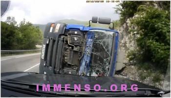 incidente con camion video