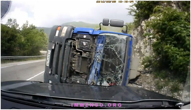 incidente con camion video