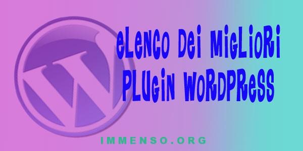 plugin wordpress fondamentali