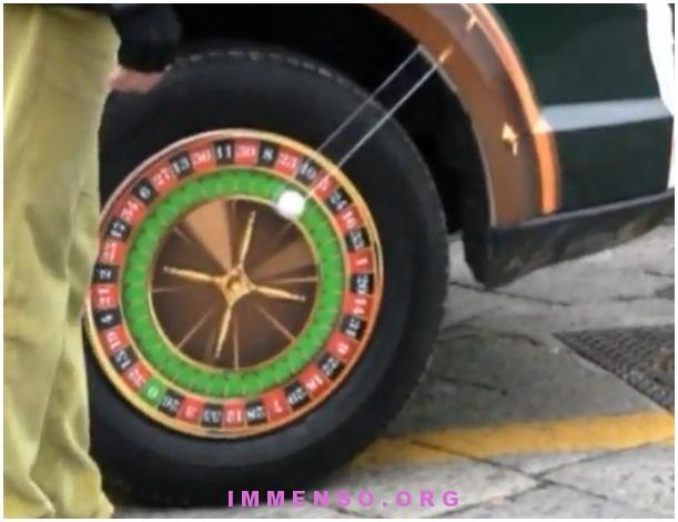 roulette sulla ruota di taxy casinò campione d'Italia