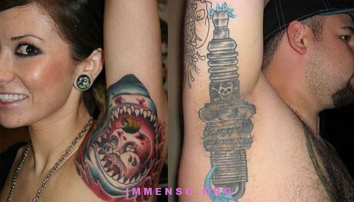 tatuaggio fatto su ascella