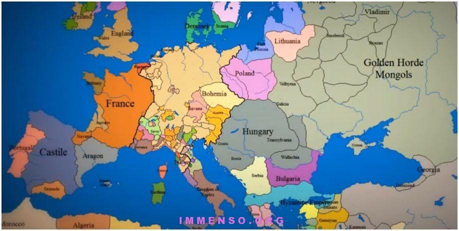 video cambiamenti degli stati nella cartina d'europa