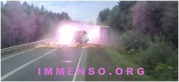 incidente incendio camion russia