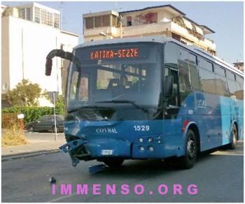 incidente mortale autobus Cotral Latina