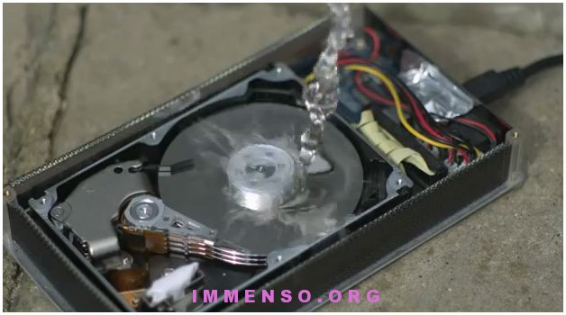 hard disk in slow motion