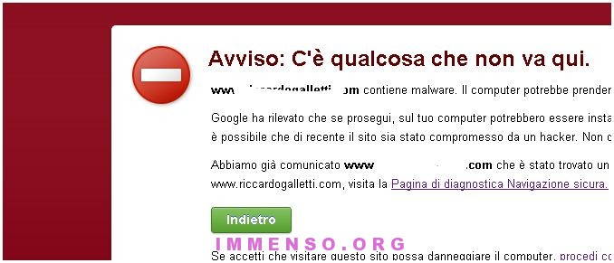 malware google siti web