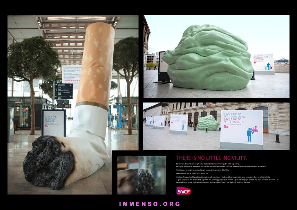 sigaretta e chewing gum gigante