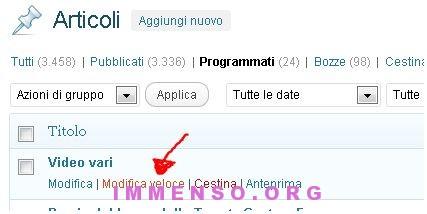 articoli programmati wordpress