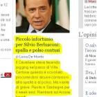 notizia di Berlusconi che cade - il giornale