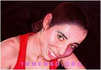 disegno a penna donna che sorride samuel silva 350x243