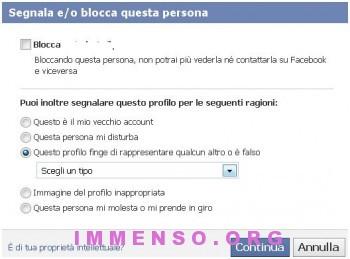 segnalare persona falsa facebook 350x259