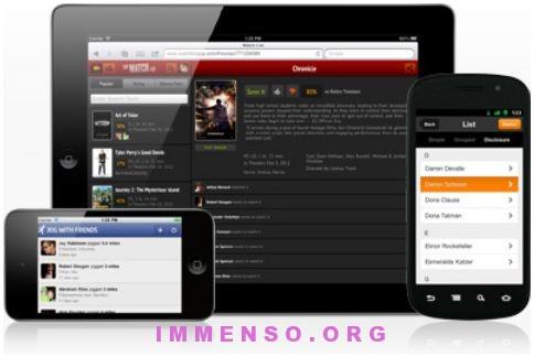 framework siti web cellulari sensa touch