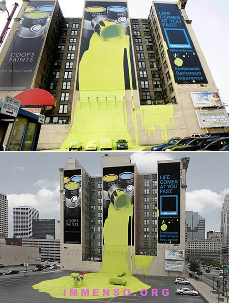 ambient marketing painting