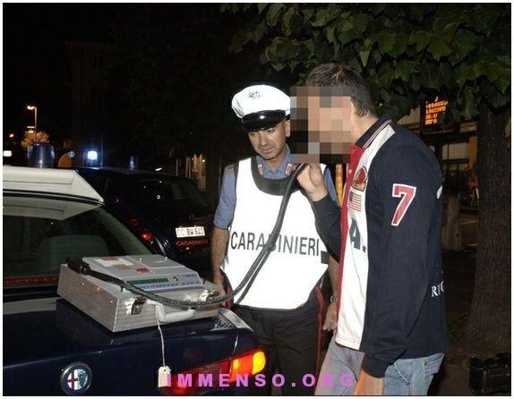 alcool test scuse dette ai carabinieri