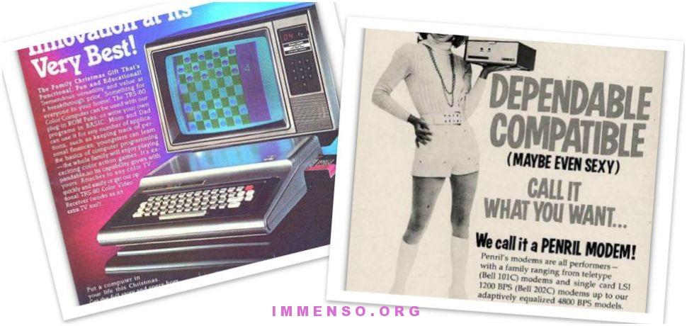 pubblicità vintage computer