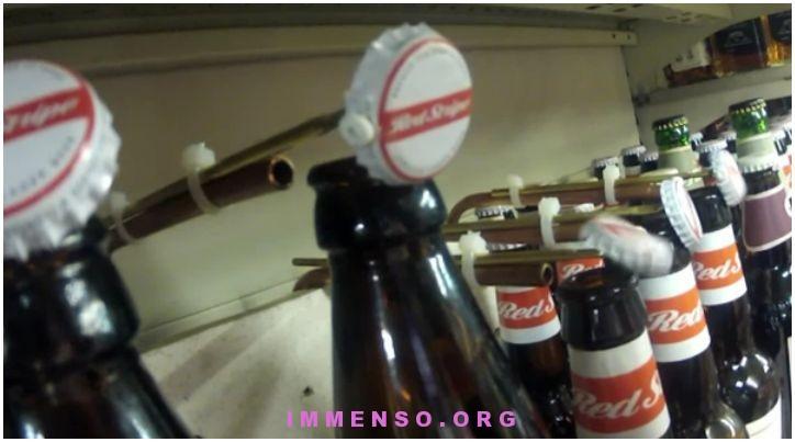 bottiglie birra che ballano
