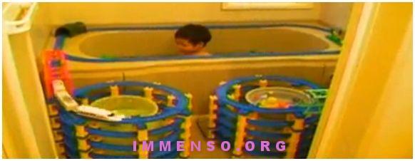 trenino vasca da bagno