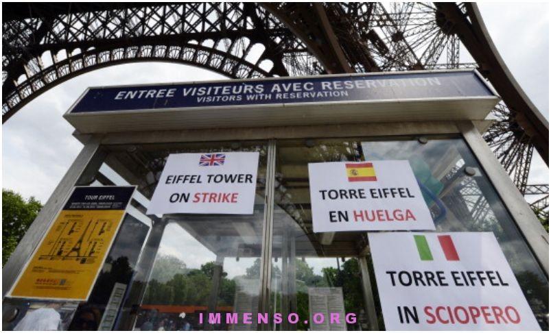 sciopero tour eiffel