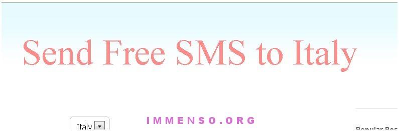 smstoitaly sito per inviare sms gratis giugno 2013
