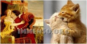 gatti in posa come nei quadri famosi