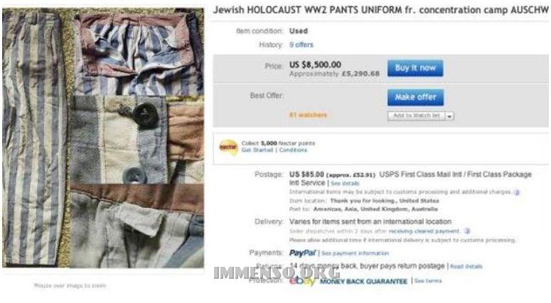 oggetti ebay auschwitz