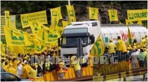 protesta agricoltori brennero