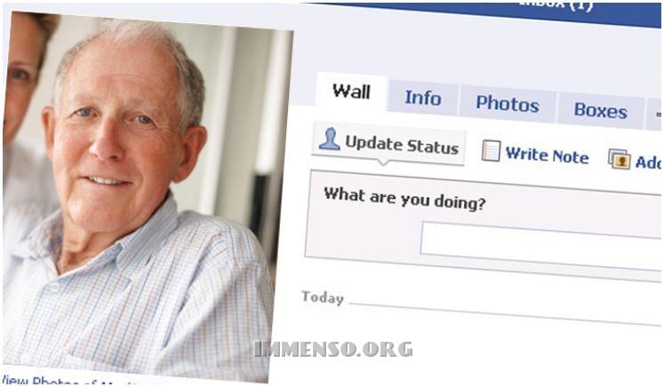 anziani su facebook
