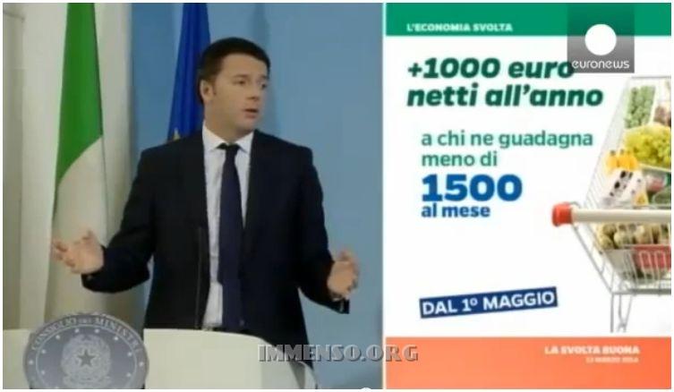 renzi debito pubblico italia