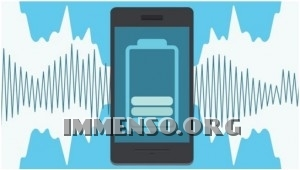 ricarica batteria smartphone con rumori