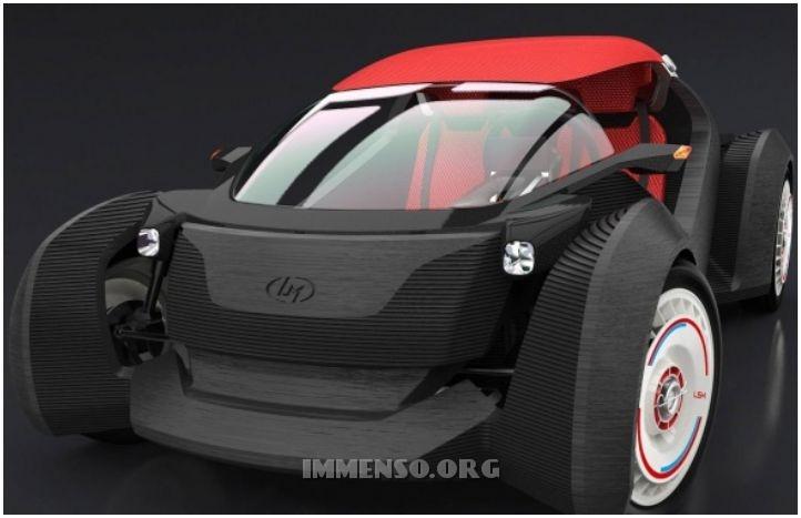 auto fatta con stampante 3d