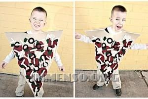 vestito halloween pizza
