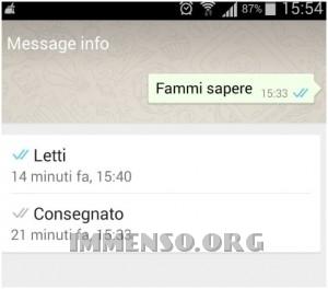 orario lettura messaggio whatsapp